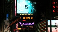 Stock Video Footage of Times Square News Screen in New York