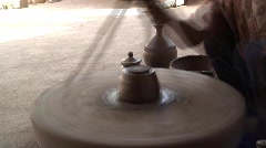 Potter at work in nr  Jodhpur, T/Lapse, India Asia Stock Footage