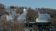 Ski hill 2 Stock Footage