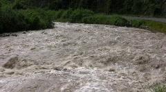 Rio Pilaton, Ecuador in flood Stock Footage