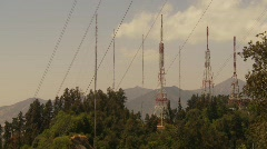 radio antennas - stock footage