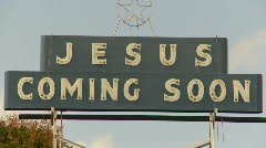 Jesus coming soon, sign  Stock Footage