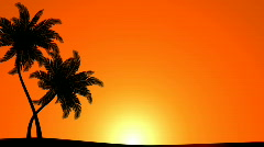 Palm Trees (Animated HD Background) Stock Footage