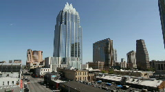Downtown Austin Frost Bank Tower Stock Footage