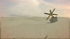 T178 sattelite space station crashed ground Stock Footage