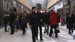 Stock Video Footage of Lot of people in shopping centre 03