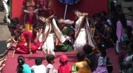 Children dancing Spring Festival, Mumbai, India Stock Footage