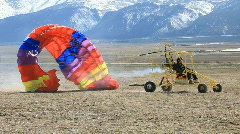 Yellow Powered Parachute takeoff P HD 6773 Stock Footage