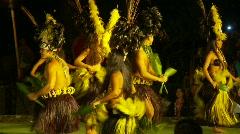 Hawaiian dancers dancing #2 Stock Footage