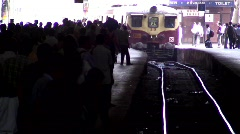 Commuters at Victoria Terminus, T/Lapse, Mumbai, India Stock Footage