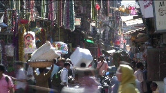 Busy Crawford Market, Mumbai, India Asia Stock Footage