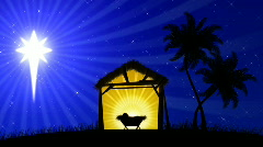 Nativity 02 (Animated Background) Stock Footage