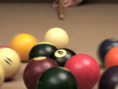Stock Video Footage of Pool 8 ball break V5 - NTSC