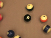Stock Video Footage of Pool 8 ball break V4 - NTSC