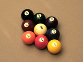 Stock Video Footage of Pool 9 ball break V1 - NTSC