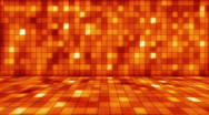 Stock Video Footage of beaming orange squares musical loopable background