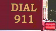 Stock Video Footage of Dial 911 Emergency