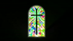stained glass - stock footage