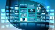 Stock Video Footage of Virtual News Studio 8