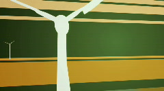 Wind Turbines on Abstract Background - stock footage