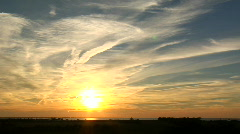 Fehmarn Sunset Clouds Stock Footage