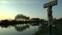 Fehmarn Harbour Sunset Stock Footage