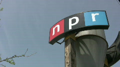 NPR Sign 3 Stock Footage