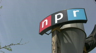 Stock Video Footage of NPR Sign 3