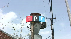 NPR Sign Stock Footage