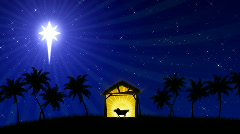 Nativity 01 (Animated Background) Stock Footage