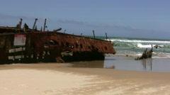 Australia Fraser Island Wreck Stock Footage
