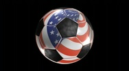 USA Chrome Soccer Ball with Alpha Stock Footage
