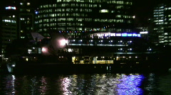 Stock Video Footage of Australia Brisbane River by Night 2