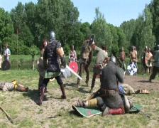 Viking combat Stock Footage