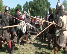 Viking retreat - stock footage