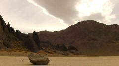 Death Valley HS 12 Racetrack Sliding Rock Loop Stock Footage