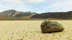 Death Valley HS 11 Racetrack Sliding Rock Loop Stock Footage