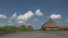Typical farm of Flanders Stock Footage