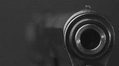 Pistol macro BW 3 Stock Footage