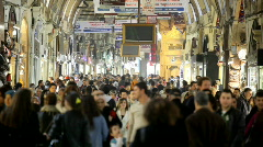 Grand Bazaar  in Istanbul - stock footage