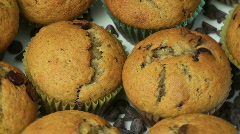 Banana Chocolate Chip Muffins Stock Footage