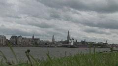 Schelde Antwerp Stock Footage
