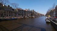Amsterdam-Kloveniersburgwal II Stock Footage