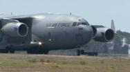 C-17 Globemaster - Air Force Transport Cargo Plane Stock Footage