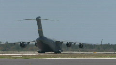 C-17 Globemaster - Air Force Transport Cargo Plane Stock Footage