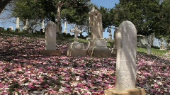 Graveyard uphill 2 Stock Footage