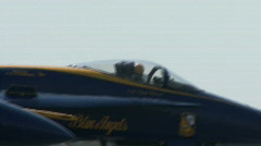 The US Navy's Blue Angels - F-18 Hornet Jet Fighter  Stock Footage