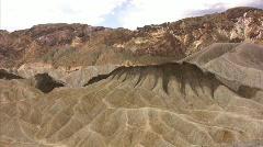 Death Valley 04 Zabriskie Point Time Lapse x10 Stock Footage