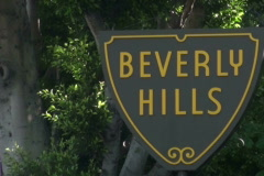 Beverly hills sign zoom - NTSC - stock footage