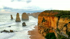 12 Apostles Time Lapse Stock Footage
